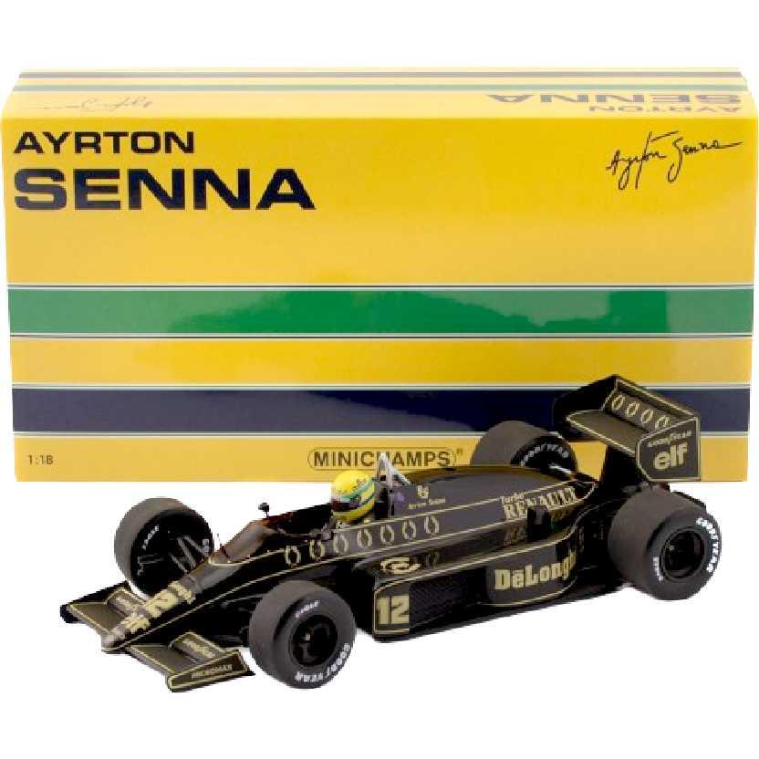Ayrton Senna F1 Lotus Renault 98T (1986) Minichamps escala 1/18 comprar barato no Brasil