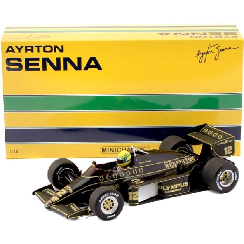 Ayrton Senna Lotus Renault F1 97T (1985) Minichamps escala 1/18 comprar barato no Brasil