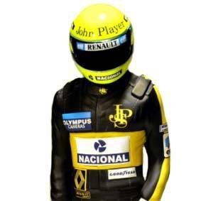 Ayrton Senna Lotus Team Statue 1985 GP Rio de Janeiro