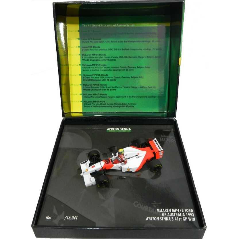 Ayrton Senna Mc Laren MP4/8 1993 (41st GP Win) Minichamps escala 1/43