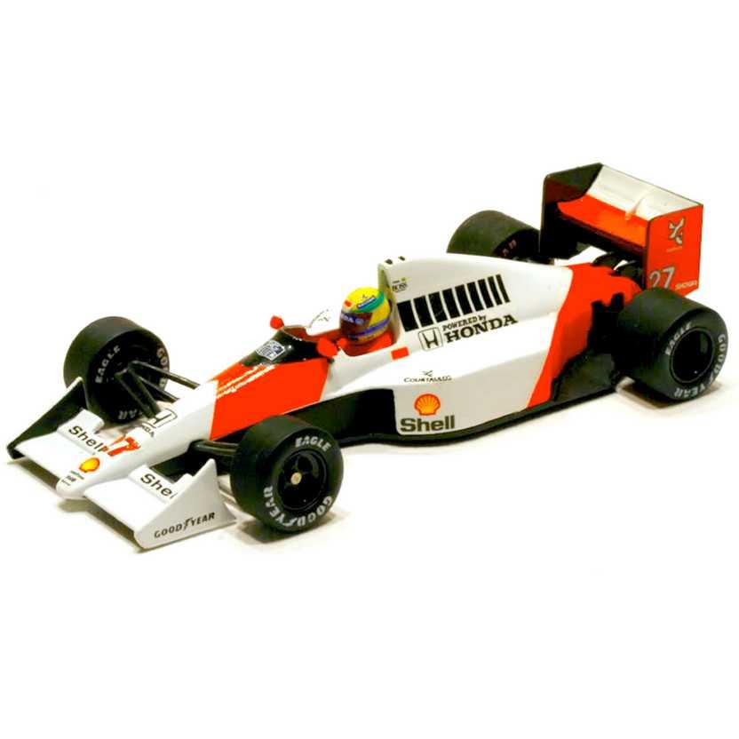 Ayrton Senna McLaren Honda MP4/5B Bicampeão (1990) Minichamps escala 1/43