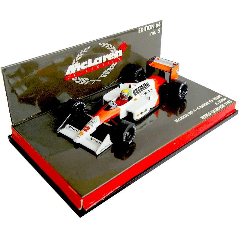 Ayrton Senna McLaren MP4/4 Honda V6 Turbo (1988) World Champion escala 1/64