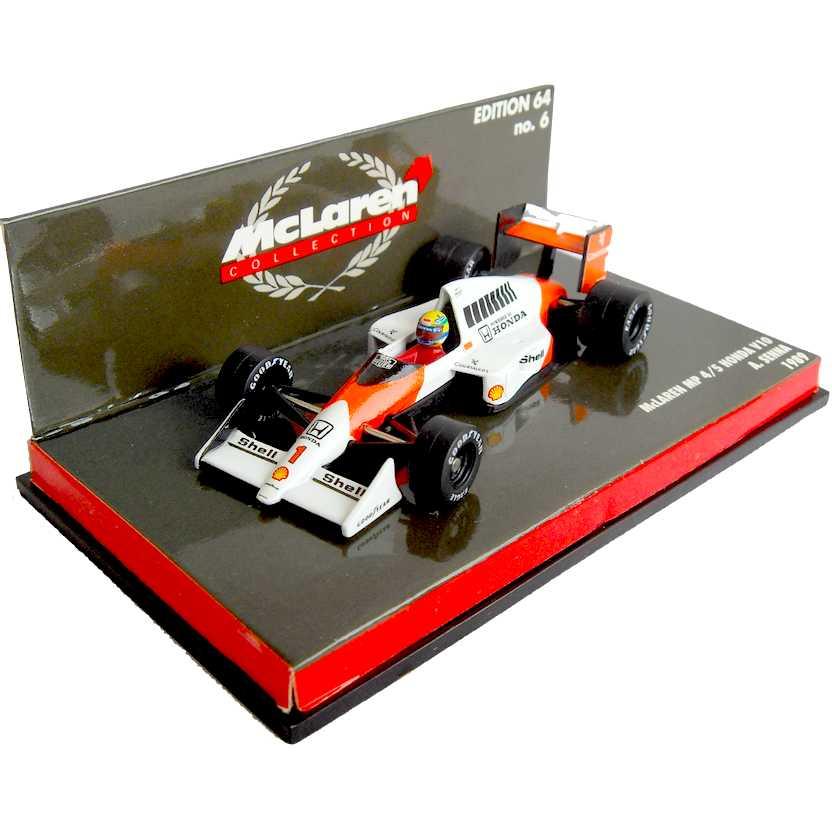 Ayrton Senna McLaren MP4/5 Honda V10 (1989) Minichamps escala 1/64