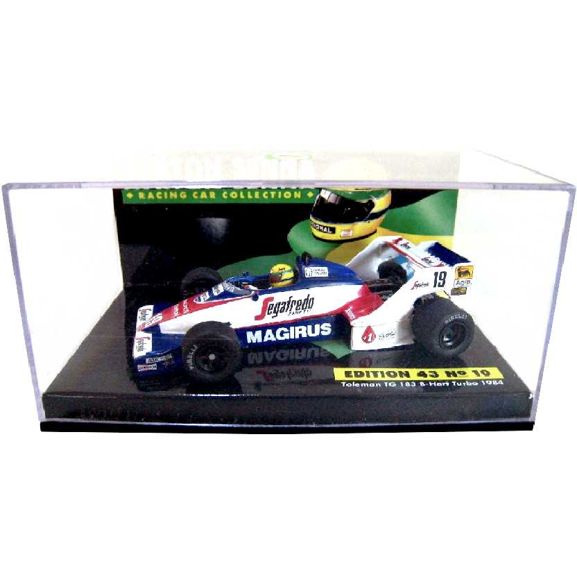 Ayrton Senna Minichamps (1984) Toleman Hart TG183 B-Hart turbo escala 1/43