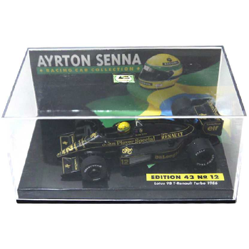 Ayrton Senna Minichamps (1986) Lotus 98T Renault Turbo escala 1/43