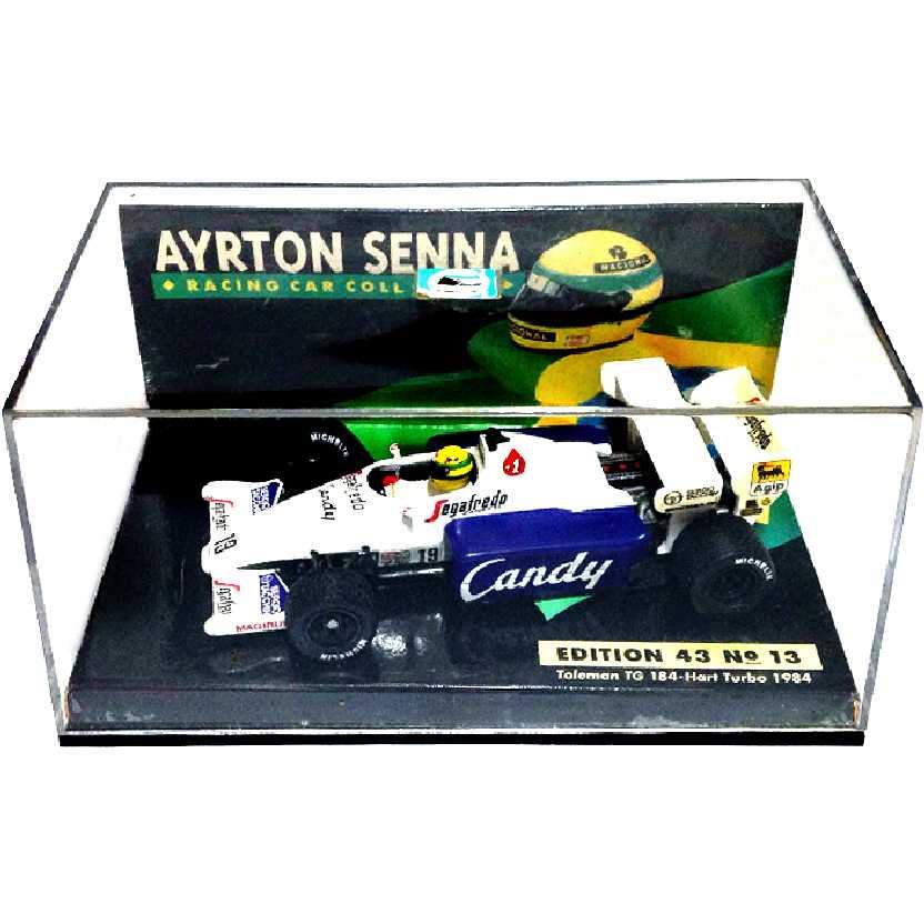 Ayrton Senna Minichamps Toleman (1984) Hart TG184 B-Hart turbo escala 1/43