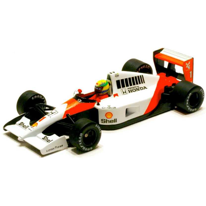 Ayrton Senna Racing Car 1/43 Collection McLaren Honda MP 4/6 Tricampeão (1991) Minichamps