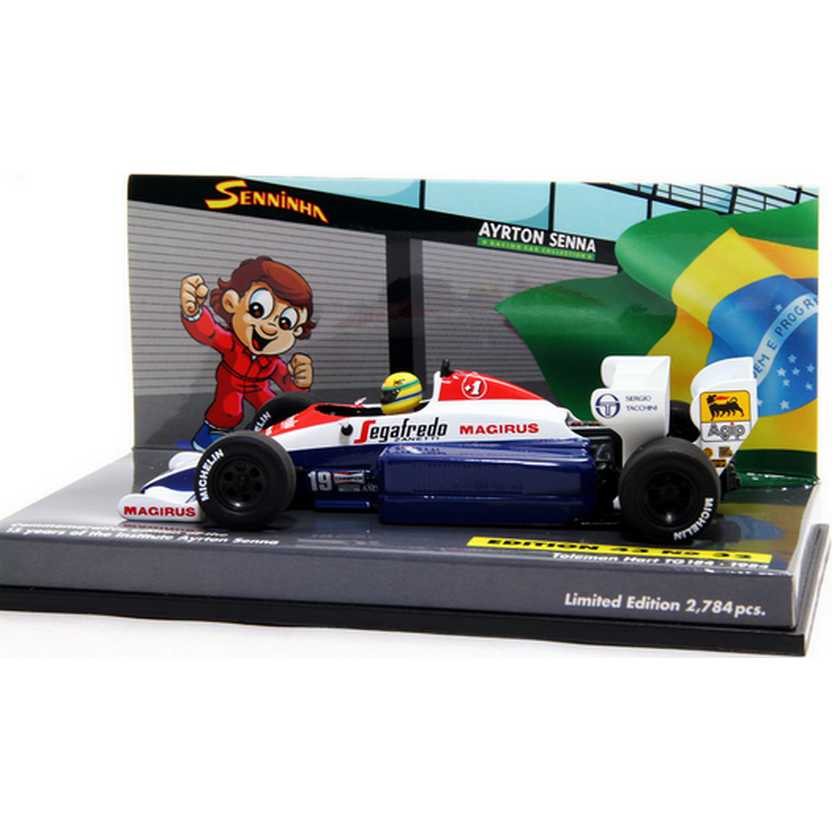 Ayrton Senna racing car collection minichamps (1984) Toleman Hart TG184 escala 1/43