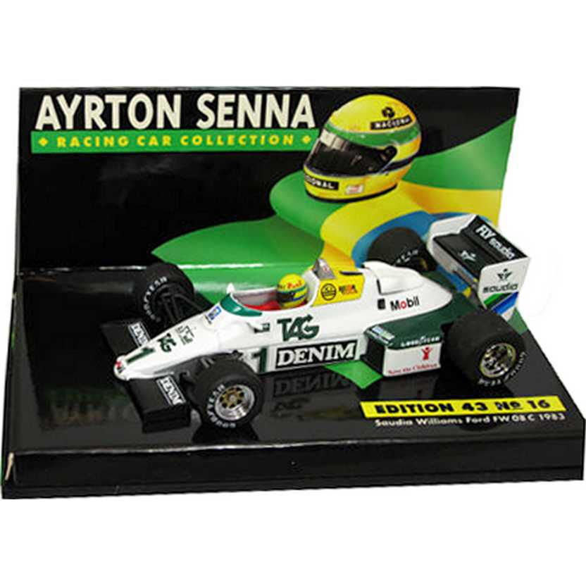 Ayrton Senna Saudia Williams Ford FW 08 C (1983) Minichamps escala 1/43
