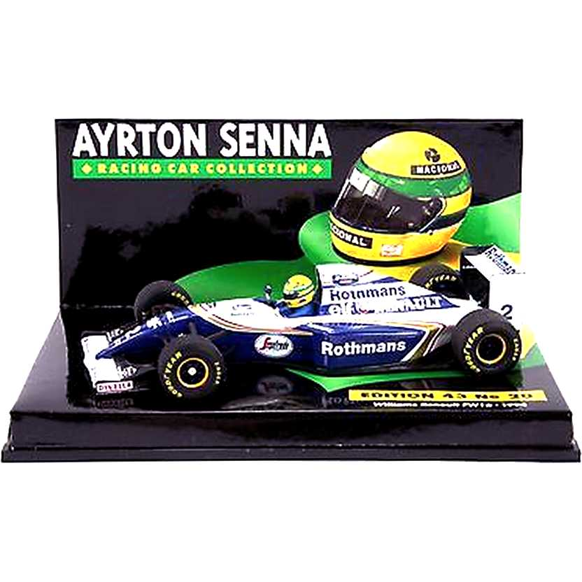 Ayrton Senna Williams FW 16 Renault V10 (1994) Minichamps escala 1/43 RARIDADE