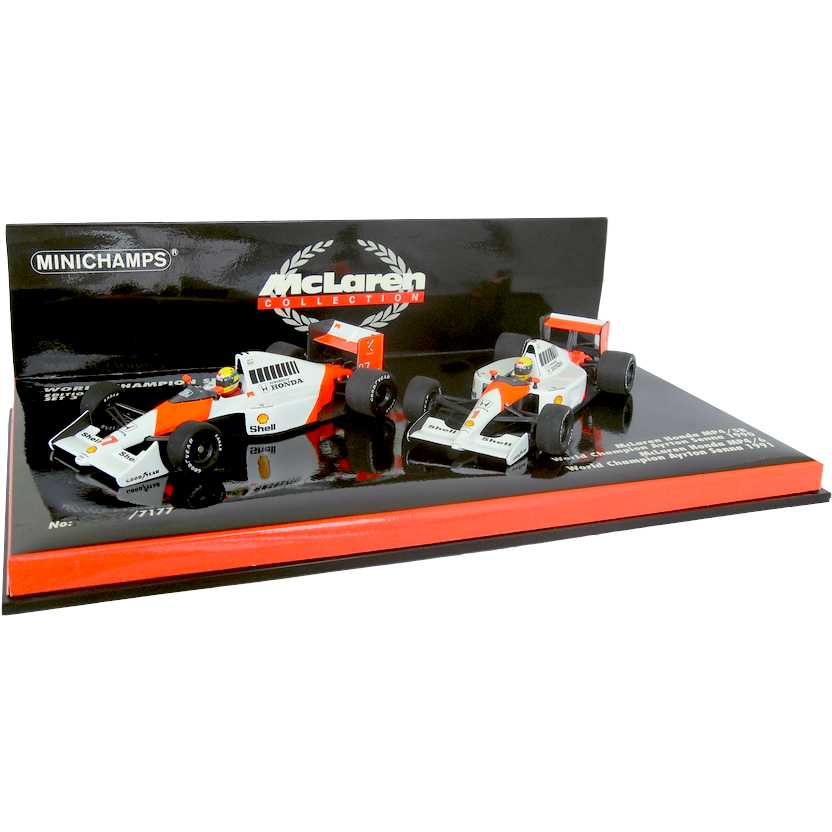 Ayrton Senna World Champion McLaren MP4/5B E MP4/6  (1990/1991) Minichamps escala 1/43