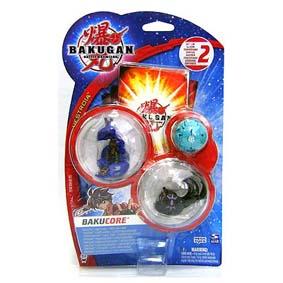 Bakugan Bakucrystal Series - Trio (azul,preto e verde)