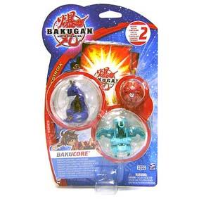 Bakugan Bakucrystal Series - Trio (azul,verm e verde)