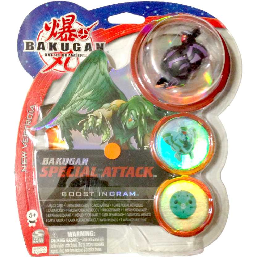 Bakugan Special Attack Boost Ingram preto