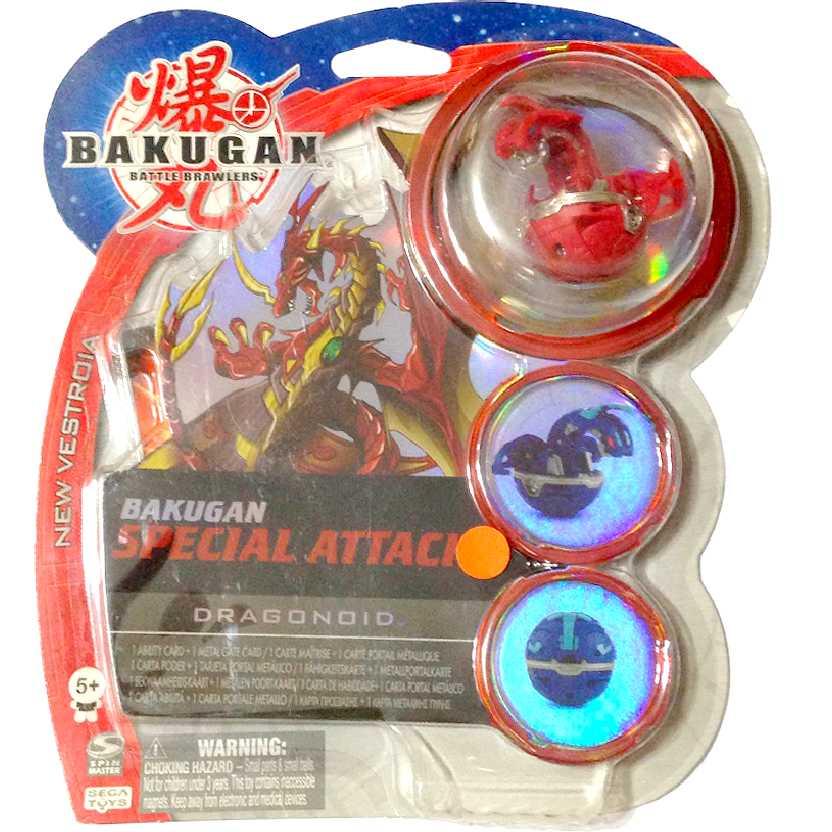 Bakugan Special Attack Dragonoid vermelho