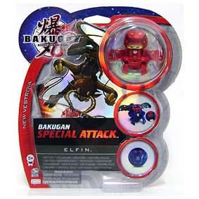 Bakugan Special Attack Elfin vermelho
