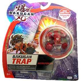 Bakugan Trap - Metalfencer Pyrus vermelho