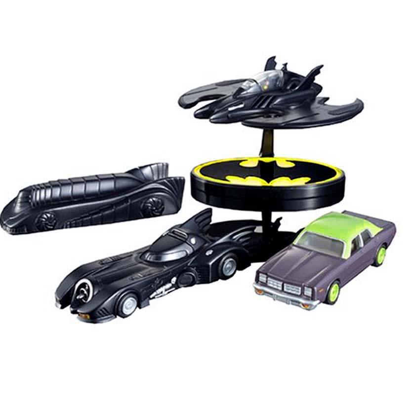 Bandai Chara Wheels Batmobile, Batmobile armored, Jokers Land Boat and Batwing
