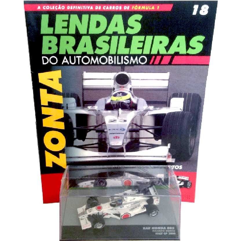 Bar Honda 002 Ricardo Zonta Lendas Brasileiras #18 do Automobilismo escala 1/43