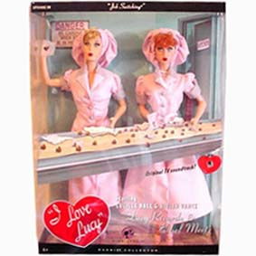 Barbie I Love Lucy e Ethel Job Switching