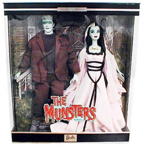 Barbie The Munsters Lily e Herman Barbie Collectors Gift Set ( 2001 ) RARO