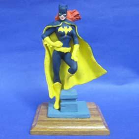 Batgirl - base de madeira