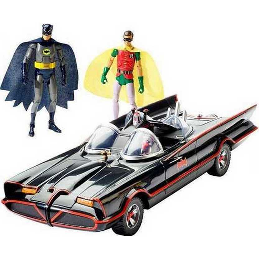 Batmóvel + Batman (Adam West) + Robin (Burt Ward) 1966 Batman TV series Batmobile with figures