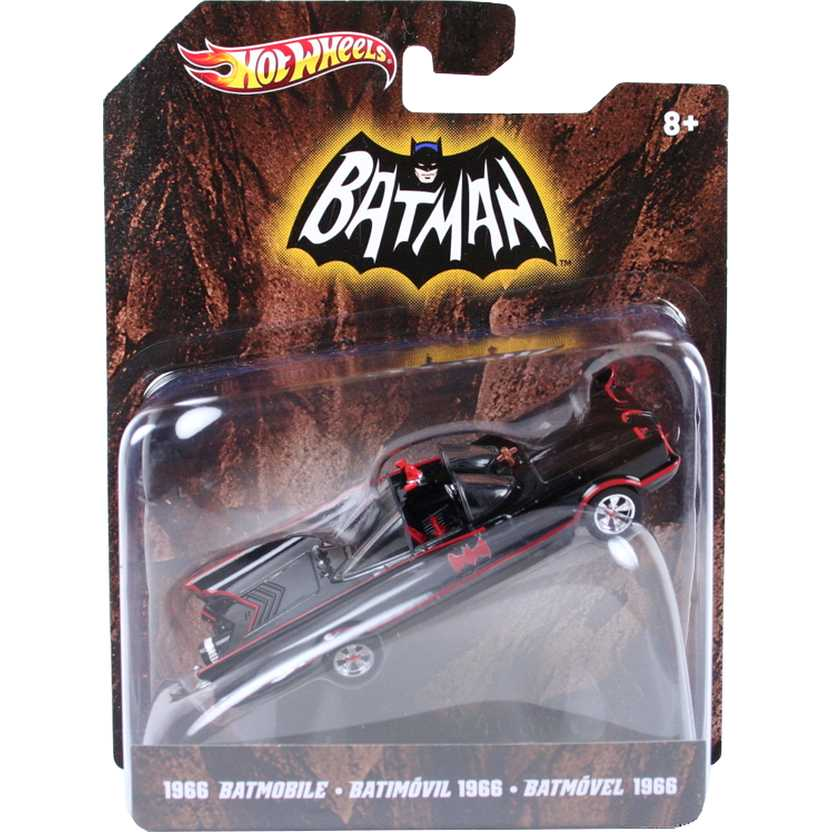 Batmóvel 1966 TV series Batmobile Hot Wheels X4033 escala 1/50