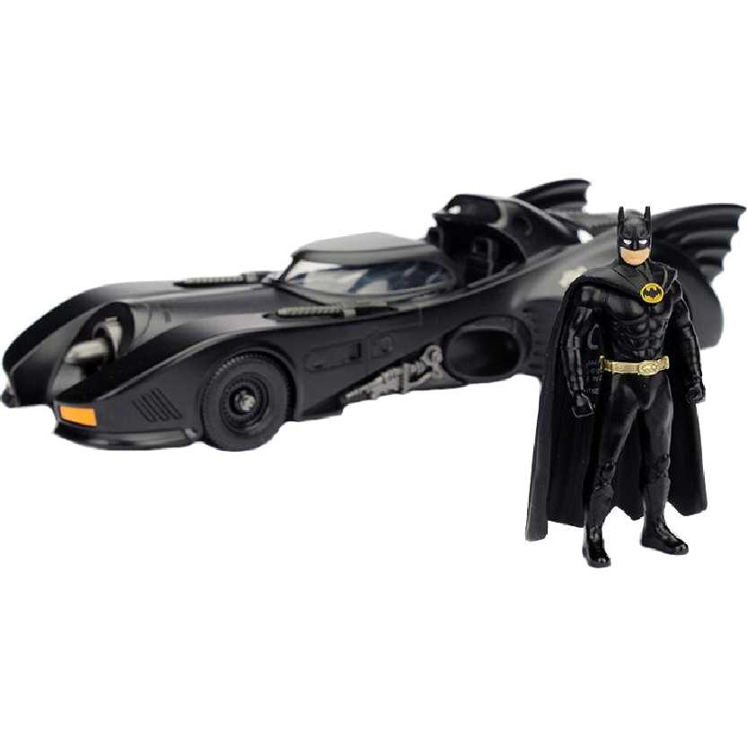 Batmóvel 1989 do filme Batman Returns Batmobile escala 1/24 + Batman Michael Keaton