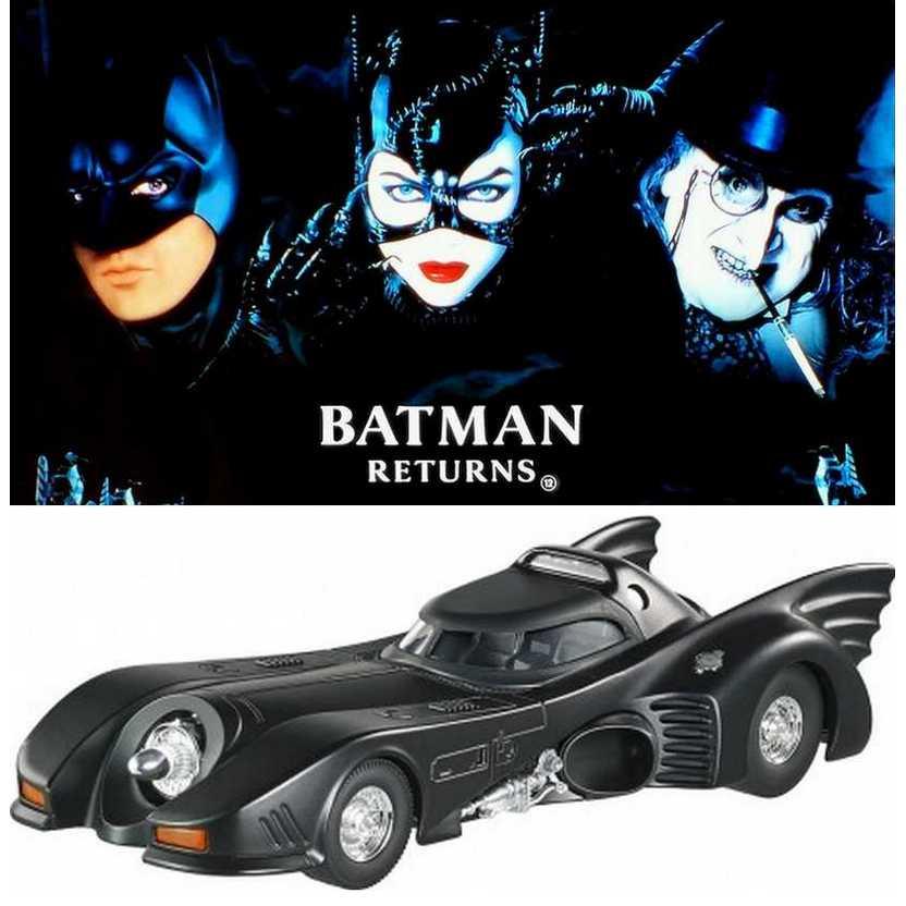 Batmóvel 1989 (Michael Keaton) Batman Returns - Batmobile Hot Wheels escala 1/24 BLY51