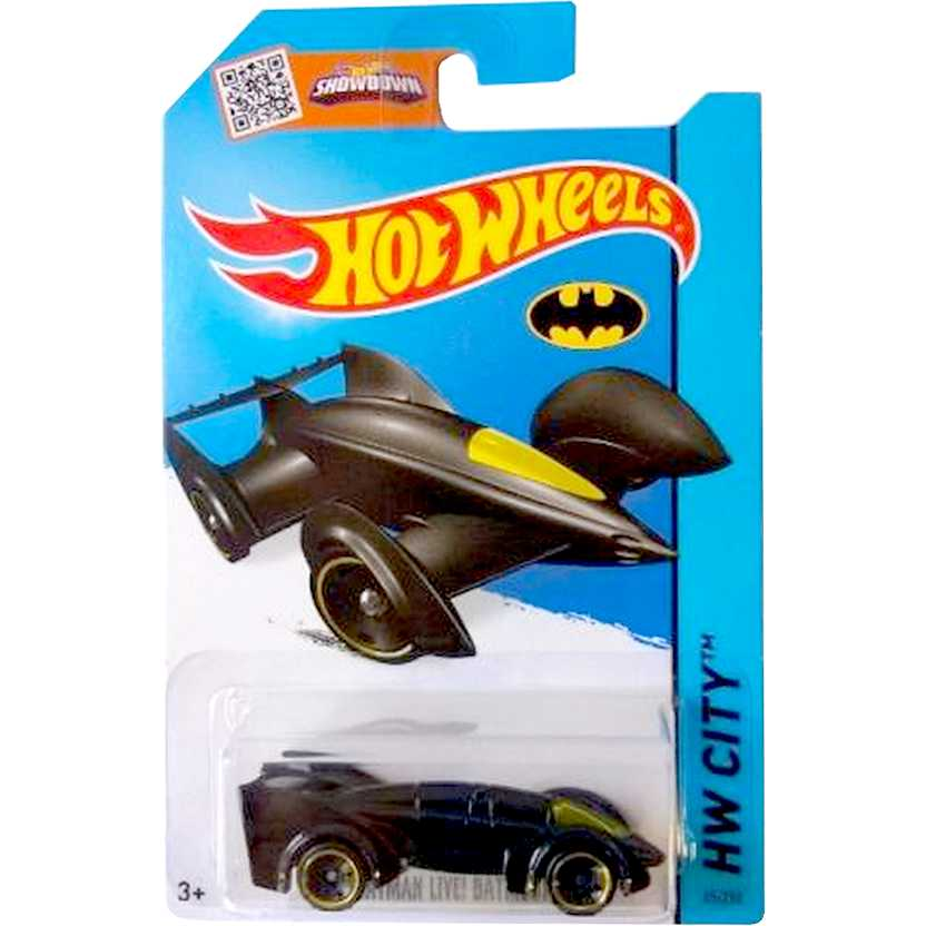 Batmóvel 2015 Hot Wheels Batman Live! Batmobile CFK23 series 65/250 escala 1/64