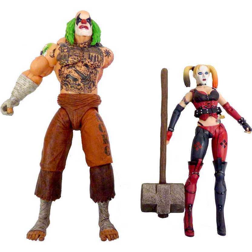 Batman Arkham City Harley Quinn Action Figure + Mr. Hammer Figure - DC Collectibles