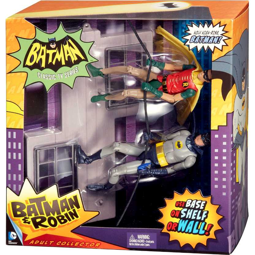 Batman e Robin com base - 1966 Classic TV series ( Adam West e Burt Ward)