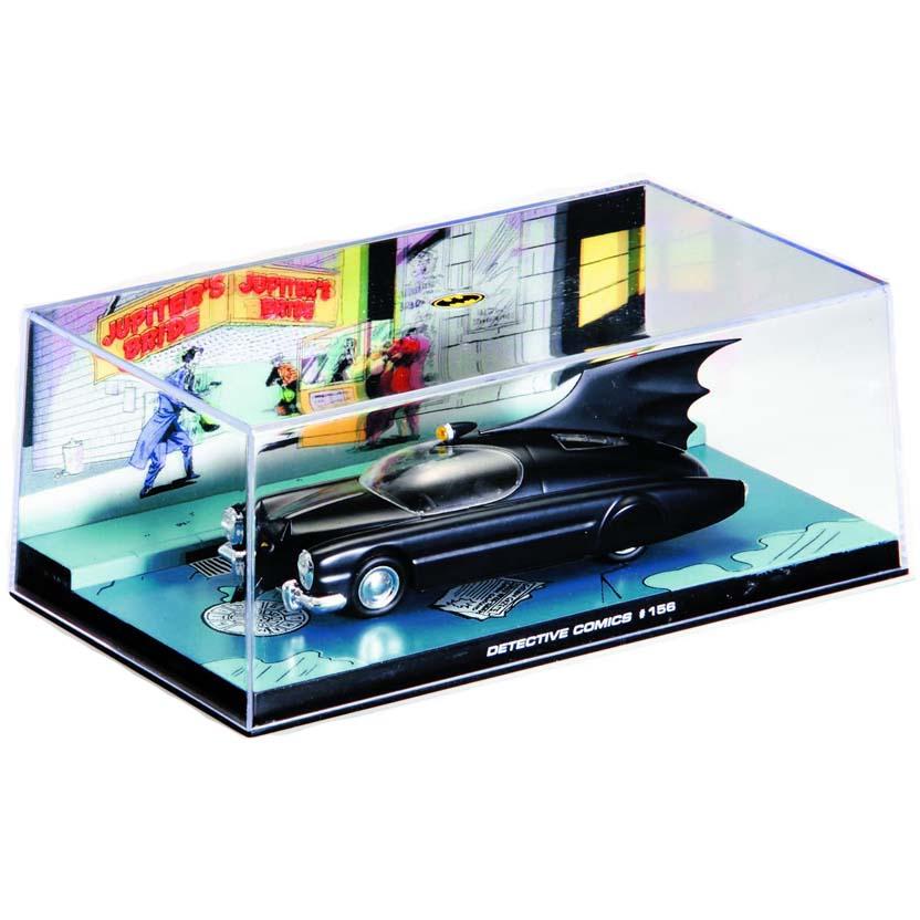 Batmobile #156 (1950) Batman Automobilia Eaglemoss Num. 6 caixa de acrílico 19x10x8 cm