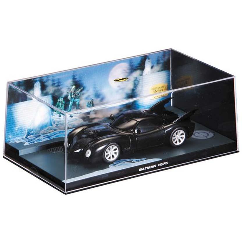 Batmobile #575 (1987) Batman Automobilia Eaglemoss Num. 7 caixa de acrílico 19x10x8 cm