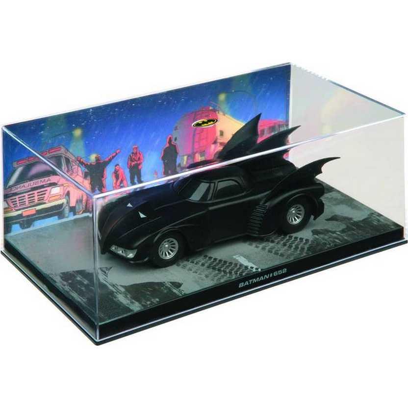 Batmobile #652 Batman Automobilia Eaglemoss Num. 20 caixa de acrílico 19x10x8 cm