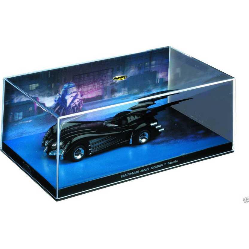 Batmobile Batman & Robin Movie - Batman Automobilia Eaglemoss Num. 16 com caixa de acrílico