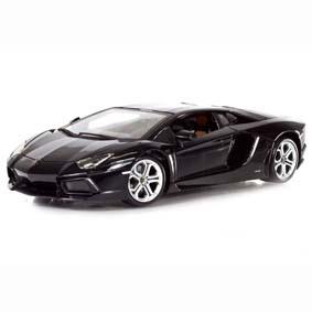 Bburago escala 1/18 Lamborghini Aventador LP 700-4 (2012) preto