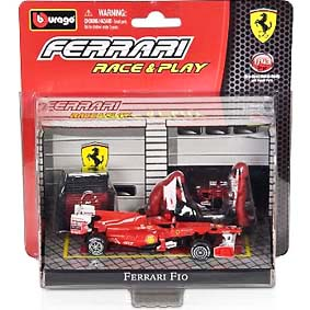 Bburago Ferrari Race & Play :: Scuderia Ferrari F10 Fernando Alonso (2010) 1/43