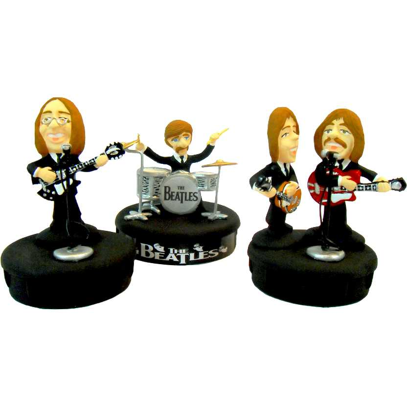Beatles com instrumentos (Paul McCartney, John Lennon, Ringo Starr e George Harrison)