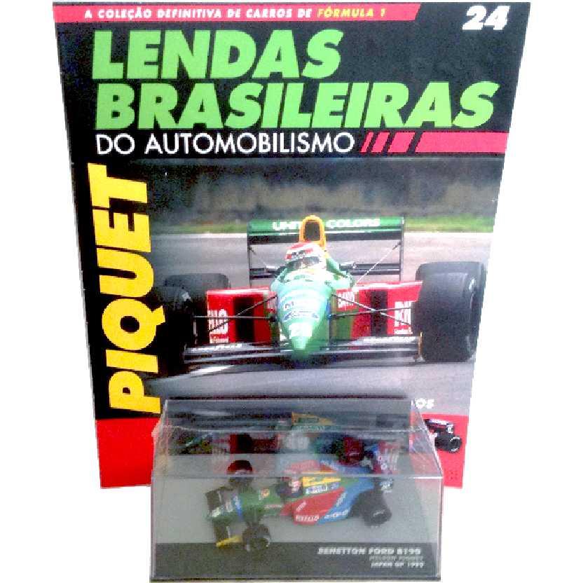 Benetton Ford B190 Nelson Piquet Lendas Brasileiras #24 do Automobilismo escala 1/43