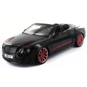 Bentley Continental Conversível Supersports ISR (preto) Burago miniatura 1/18