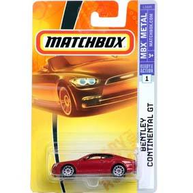 Bentley Continental GT Matchbox escala 1/64 L5049
