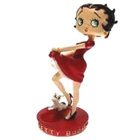 Betty Boop com joelho flexionado