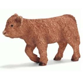 Bezerro escocês (Schleich Toys Animals) Cow Scottish Highland Calf 13660