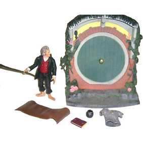 Bilbo com diorama (aberto) O Senhor dos Anéis