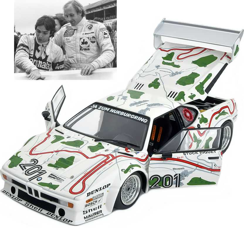 BMW M1 Motorsport Nelson Piquet e Stuck (1980) 1000 Km Nurburgring escala 1/18