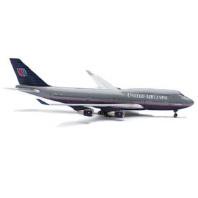 Boeing 747-400 United Airlines Miniaturas Aviões Comerciais Herpa