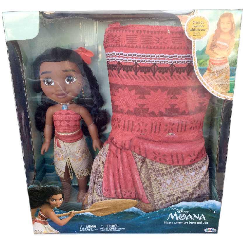 Boneca Disney Moana Adventure Dress And Doll + Vestido Jakks Pacific