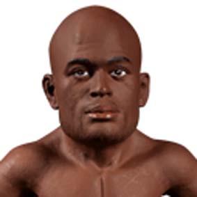 Boneco Anderson Silva UFC com cinturão do campeão Championship Edition (aberto)